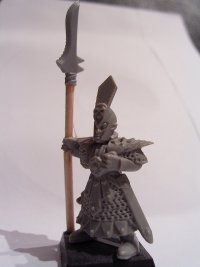 The converted model with sword replaced by a spear